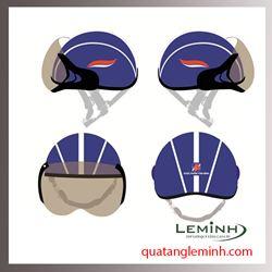 Mũ bảo hiểm nửa đầu có kính - Dược Phẩm Tâm Bình Mẫu 2