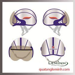 Mũ bảo hiểm nửa đầu có kính - Dược Phẩm Tâm Bình Mẫu 1