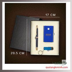 Bộ Quà Tặng Bút Ký, Pin Sạc Dự Phòng, USB Quà Tặng