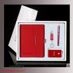 Bộ Quà Tặng Sổ Da Gáy Còng, Bút Ký, Pin Sạc Dự Phòng, USB
