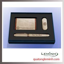 Bộ quà tặng - Giftset 3 sản phẩm USB + bút ký + hộp namecard