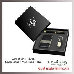 Bộ quà tặng - Giftset 3 sản phẩm móc khóa + bút ký + hộp namecard