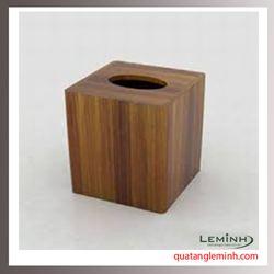 Hộp đựng khăn giấy gỗ - 002