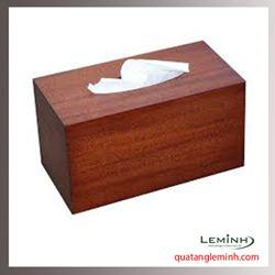 Hộp đựng khăn giấy gỗ - 005