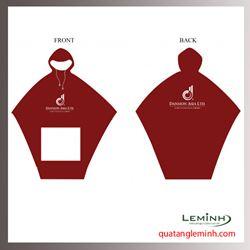 Áo mưa quây chữ A - Danmon Asia Màu Đỏ Booc Đô