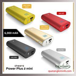 Pin sạc dự phòng Cheero Power Plus 2 Mini - 6000 mAh