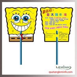 Quạt nhựa quảng cáo - Quạt nhựa cầm tay 027