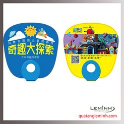Quạt nhựa quảng cáo - Quạt nhựa cầm tay 017