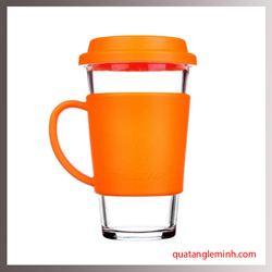 Cốc thủy tinh cường lực Glasslock - Màu cam