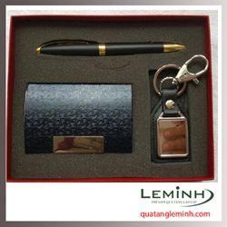 Bộ quà tặng bút ký, hộp đựng namecard, móc khóa 001- Hàng sẵn