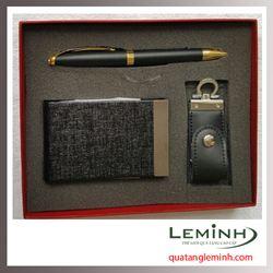 Bộ quà tặng bút ký, hộp đựng namecard, USB 002 - Hàng sẵn