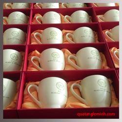Cốc sứ Hàn Quốc Pastel Mug Cup  In logo THCS Ngô Sỹ Liên