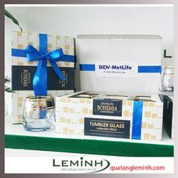 Bộ cốc rượu pha lê Bohemia - KH BIDV Metlife