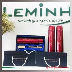 Bộ quà tặng USB, bút gỗ, bình giữ nhiệt - KH CIMB