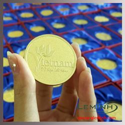 Logo kim loại mạ vàng - KH Sở Văn hóa Du lịch Hà Nội