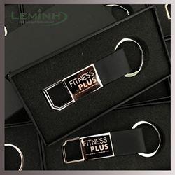 Móc khóa kim loại phối da - KH Fitness Plus
