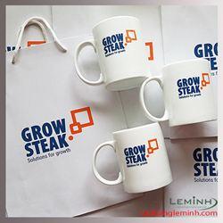 Ly  sứ quà tặng in logo - Grow Steak