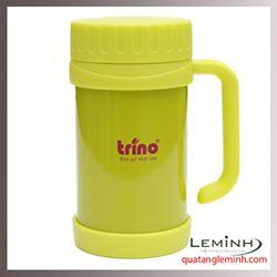 Bình giữ nhiệt Trino có tay cầm 500ml - Màu xanh cốm