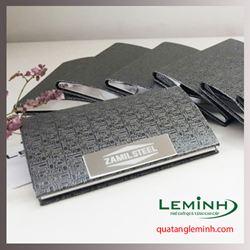 Hộp Namecard kim loại khắc logo - Zamil Steel