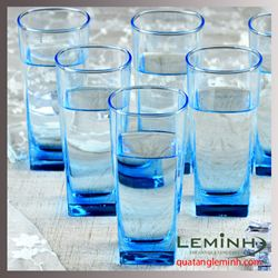 Bộ cốc thủy tinh 6 chiếc Luminarc 330ml - blue