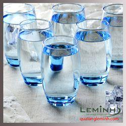 Bộ cốc thủy tinh 6 chiếc Luminarc Salto 350ml - blue