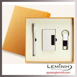 BỘ QUÀ TẶNG BÚT KÝ KIM LOẠI + USB + MÓC KHÓA DA