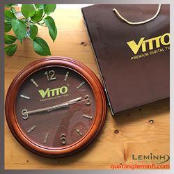 Đồng hồ treo tường gỗ tự nhiên cao cấp - Vitto