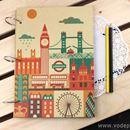 Album DIY London họa tiết màu K0574 540g