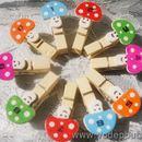 Bộ kẹp gỗ hình nấm màu sắc K0677 35g