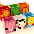 Hộp đựng bút kẹp ảnh dễ thương voi, gấu, bò, ếch, sư tử K0958 65g