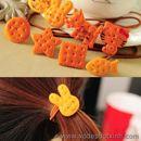 Dây buộc tóc hình bánh quy túi 12 chiếc K0996 60g