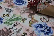 CKP190 Tháp nghiêng hoa hồng xanh