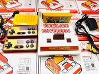 điện tử 4 nút fc compact v4 tặng kèm băng 168 trỏ cắm cổng av hoa sen vàng đỏ trắng
