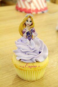 Cupcake công chúa Rapunzel