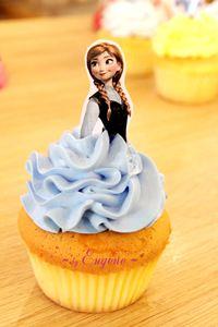 Cupcake công chúa Anna - Frozen