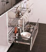 Giá để xoong nồi bát đĩa inox cao cấp EP70 - Phụ kiện tủ bếp EUROGOLD