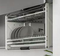 Giá bát nâng hạ inox G180 - Phụ kiện tủ bếp GROB