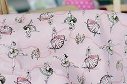 Vải họa tiết ballet