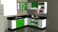 Tủ bếp inox cánh đẹp mẫu 19