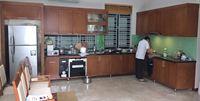 Tủ bếp inox cánh gỗ mẫu 12