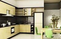 Tủ bếp inox cánh gỗ mẫu 10