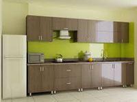 Tủ bếp inox cánh gỗ mẫu 09