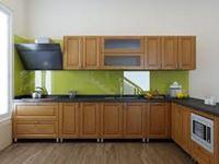 Tủ bếp inox cánh gỗ mẫu 07