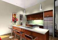 Tủ bếp inox cánh gỗ mẫu 05