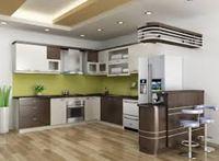 Tủ bếp inox cánh gỗ mẫu 03