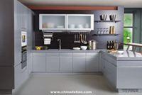 Tủ bếp inox cánh Laminate mẫu 02