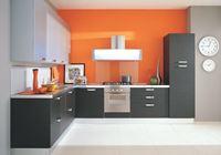 Tủ bếp inox cánh gỗ mẫu 01