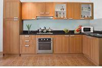 Tủ bếp gỗ sồi Nga mẫu  04