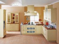 Tủ bếp gỗ sồi Nga mẫu  02