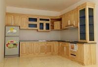 Tủ bếp gỗ sồi Nga mẫu  01